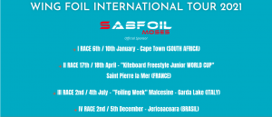 Read more about the article Breaking news: Wing Foil Tour International calendar 2021